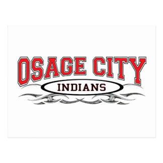 Osage City Indians Razors Postcard