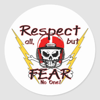 Osage City Indians Respect Classic Round Sticker