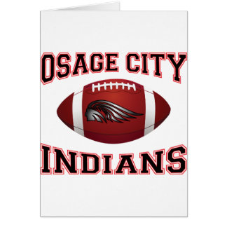 Osage City Indians Tribal Football Card