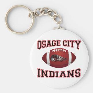 Osage City Indians Tribal Football Keychain