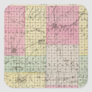 Osage County Kansas Square Stickers