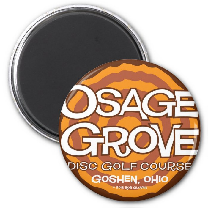Osage Grove Disc Golf 2 Inch Round Magnet