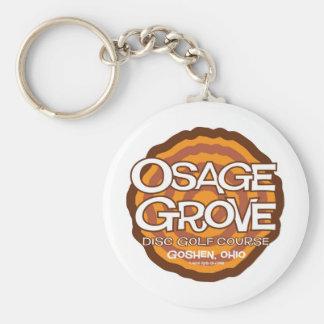 Osage Grove Disc Golf Basic Round Button Keychain