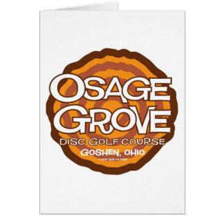 Osage Grove Disc Golf Card