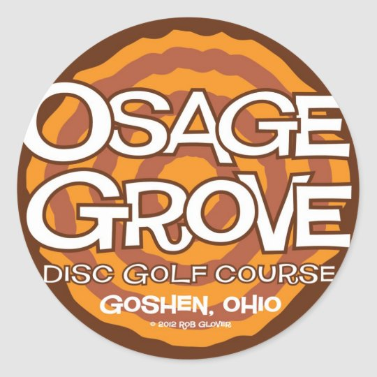 Osage Grove Disc Golf Classic Round Sticker