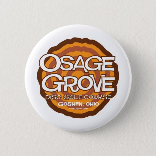 Osage Grove Disc Golf Pinback Button