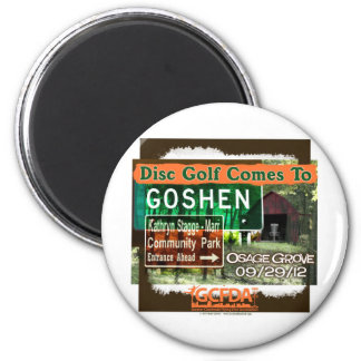 Osage Grove Goshen Disc Golf Grand Opening 2 Inch Round Magnet