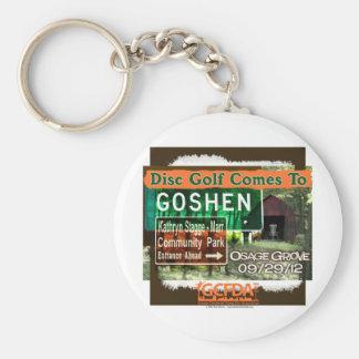 Osage Grove Goshen Disc Golf Grand Opening Basic Round Button Keychain
