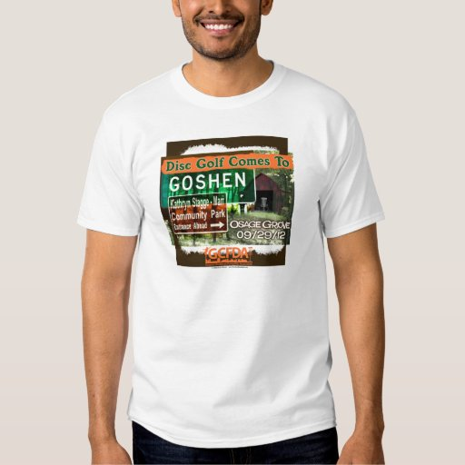 Osage Grove Goshen Disc Golf Grand Opening Tee Shirt