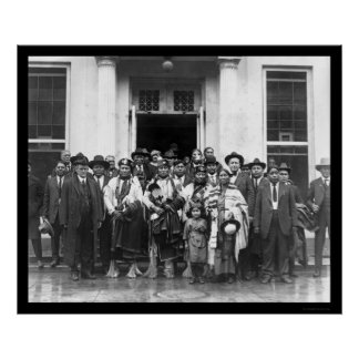 Osage Indian Group White House 1919 Poster