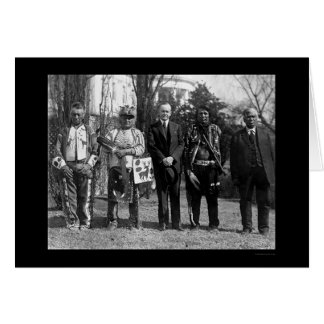 Osage Indians and President Coolidge 1925 Card