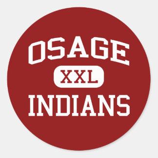 Osage - indios - joven - lago Ozark Missouri Pegatina Redonda