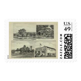 Osage, montón, y Burlington, Kansas Estampilla