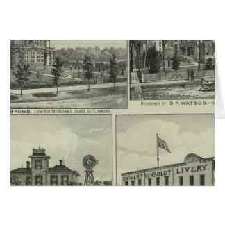 Osage, montón, y Burlington, Kansas Tarjeta De Felicitación