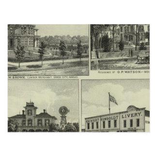 Osage, montón, y Burlington, Kansas Tarjetas Postales