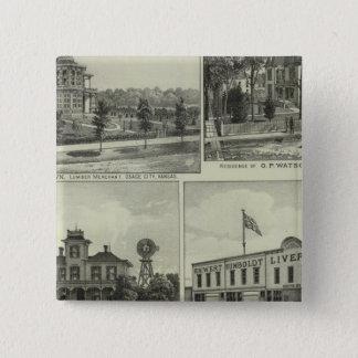 Osage, Mound, and Burlington, Kansas Button