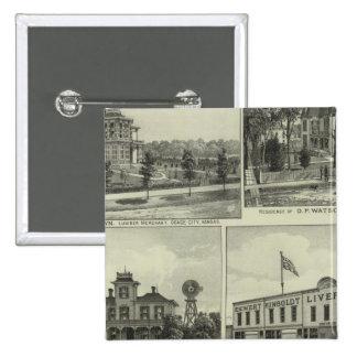 Osage, Mound, and Burlington, Kansas Pinback Buttons