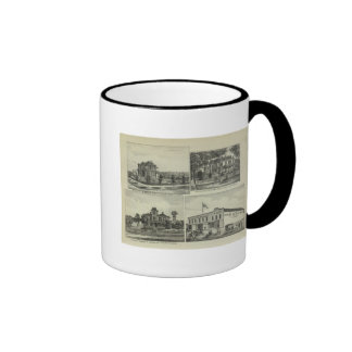 Osage Mound and Burlington Kansas Coffee Mugs