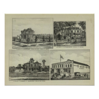 Osage, Mound, and Burlington, Kansas Posters