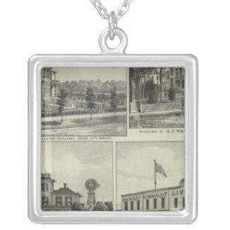 Osage, Mound, and Burlington, Kansas Silver Plated Necklace