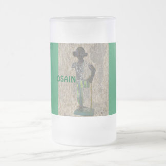 OSAIN 16 OZ FROSTED GLASS BEER MUG