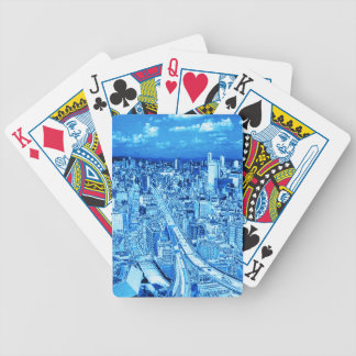 Osaka,blue light bicycle playing cards