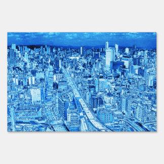 Osaka,blue Light Lawn Signs