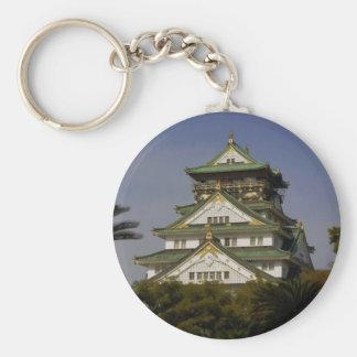 Osaka Castle Basic Round Button Keychain