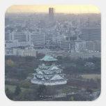 Osaka Castle Square Sticker