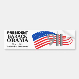 Osama Bin Laden Dead - Justice has been done Bumper Sticker