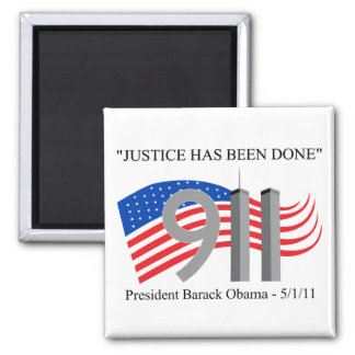 Osama Bin Laden - Justice Has Been Done 2 Inch Square Magnet