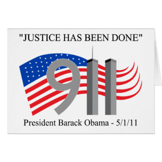 Osama Bin Laden - Justice Has Been Done Card