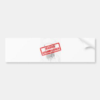 Osama Dead Mission Accomplished Bumper Sticker