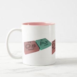 Osar as Os Osmium and Ar Argon Two-Tone Coffee Mug
