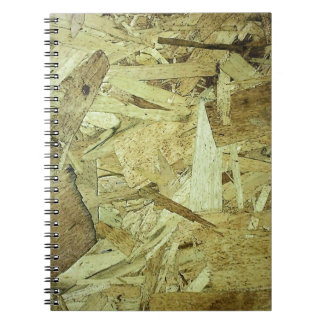 OSB Chip Board Plywood Spiral Notebook