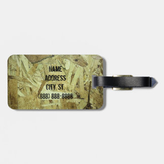 OSB Chip Board Plywood w name Tag For Bags