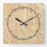 OSB Pattern Chipboard Renovation Wall Clock