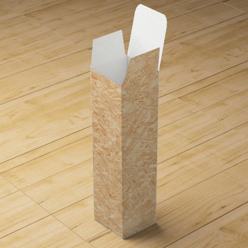 osb pattern chipboard renovation wine gift boxes zazzle. Black Bedroom Furniture Sets. Home Design Ideas