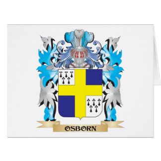 Osborn Coat of Arms - Family Crest Large Greeting Card