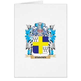 Osborn Coat of Arms - Family Crest Greeting Card