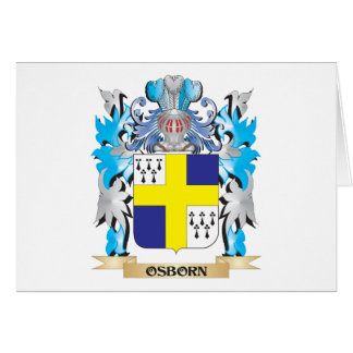 Osborn Coat of Arms - Family Crest Stationery Note Card
