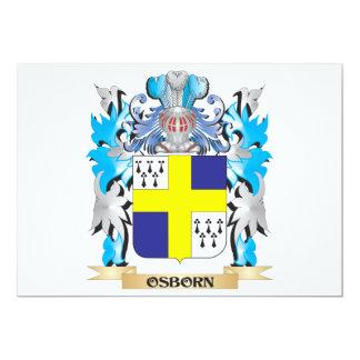 Osborn Coat of Arms - Family Crest 5x7 Paper Invitation Card