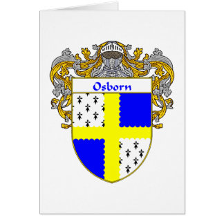 Osborn Coat of Arms (Mantled) Greeting Card