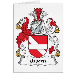Osborn Family Crest Greeting Card