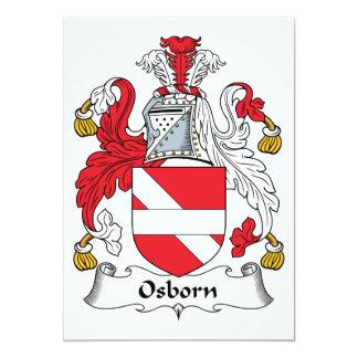 Osborn Family Crest 5x7 Paper Invitation Card