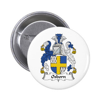 Osborn Family Crest Pinback Button