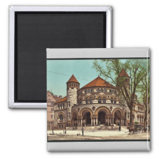 Osborn Hall, Yale College rare Photochrom 2 Inch Square Magnet