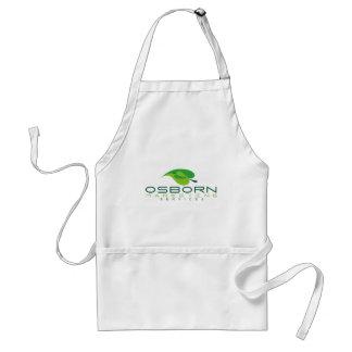osborn marketing green logo adult apron