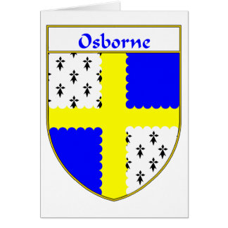 Osborne Coat of Arms/Family Crest Greeting Card
