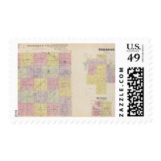 Osborne County Osborne, Bethany Portis, Kansas Postage